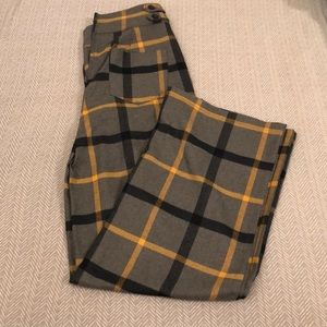 ModCloth plaid wide leg pants